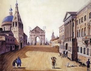 Вид-Тверской-улицы.-Гравюра,-1810-г.