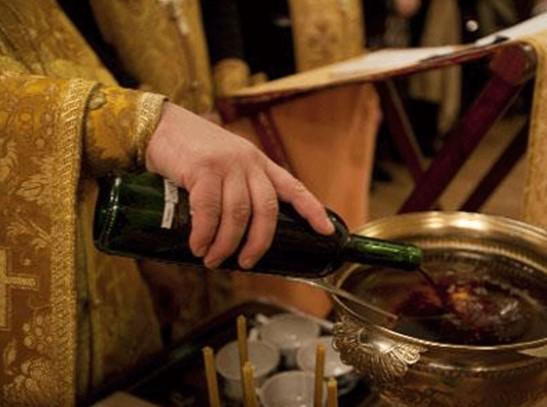 постные продукты и вино на канун