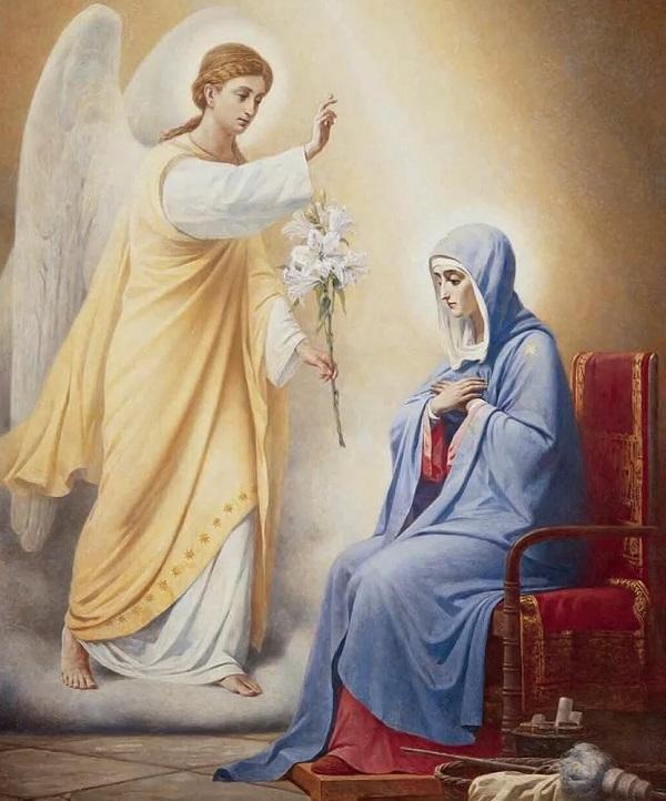 Явление Богородице архангела