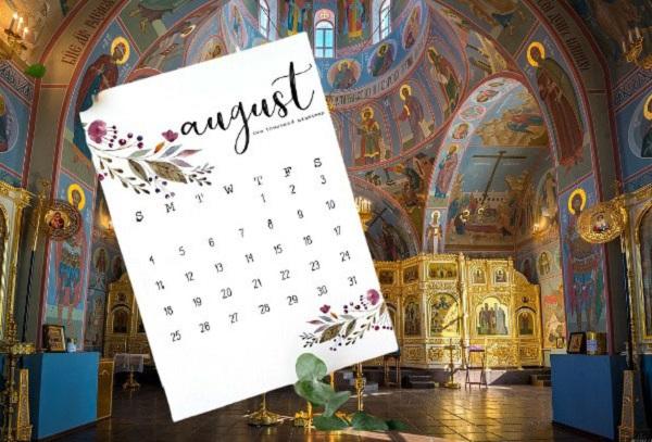 Календарь Успенского поста 2021 года