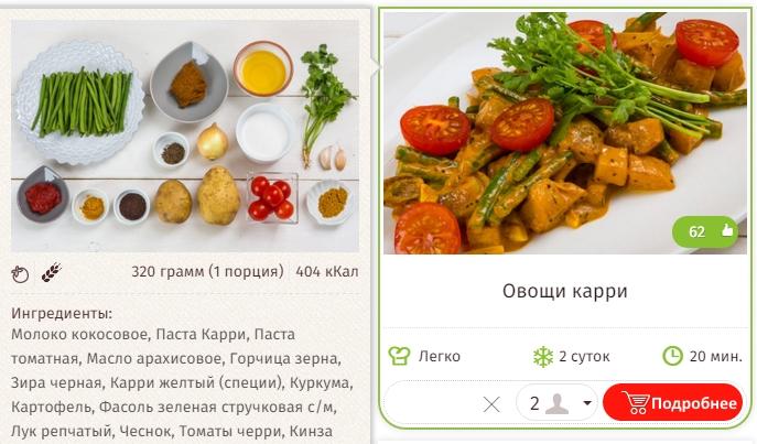 Овощи Кари
