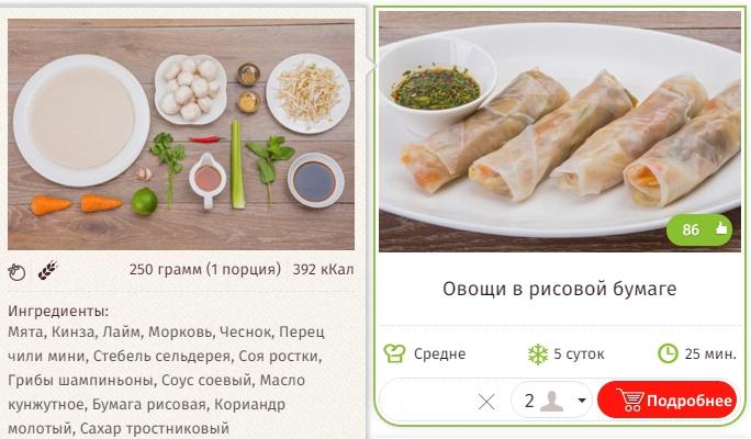 Овощи в рисовой бумаге