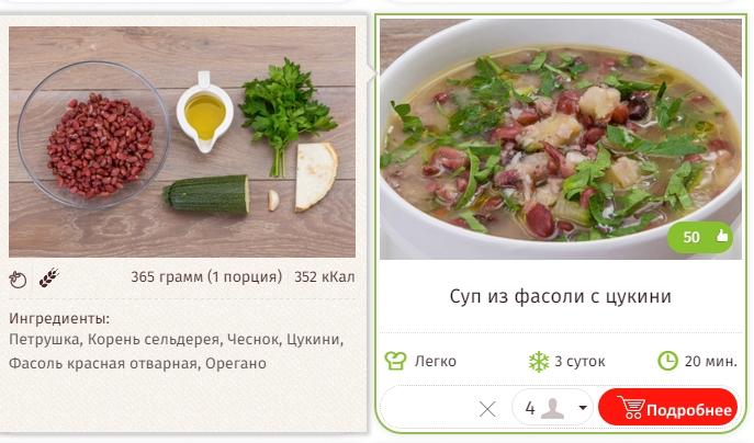Суп из фасоли с цукини
